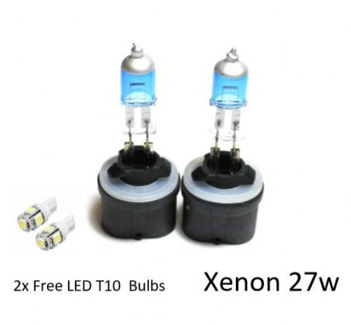 2x H27W/1 [880] 27w SUPER WHITE XENON LOOK/EFFECT UPGRADE HID T10 LED SIDELIGHTS
